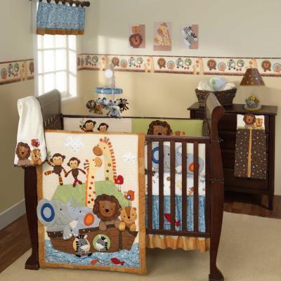 Ensemble de literie Noé luxe pour enfants (pack de 5 pièces), 48.3 x 48.3 x 15.2 cm -PEGANE- pour 368€