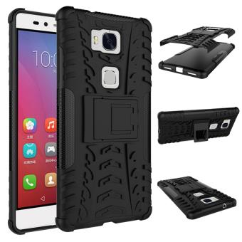 coque huawei honor 5x noire avec stand armor case housse cover de protection silicone avec. Black Bedroom Furniture Sets. Home Design Ideas