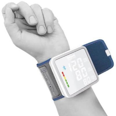 Objets connectés : Description de MyTensio - Tensiomètre de poignet Connecté MyTensio est un auto-tensiomètre qui se connecte à votre smartphone. Cette nouveauté effectue 3 mesures consécutives, calculé rapidement, donnant la moyenne des 3 mesures pour un