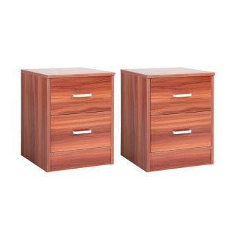 2 tables de nuit chevet avec tiroir 1401069 achat prix fnac. Black Bedroom Furniture Sets. Home Design Ideas