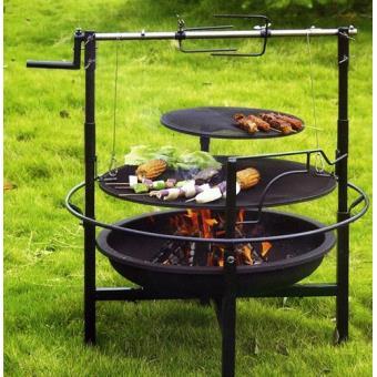 Barbecue charbon avec rotissoire acheter au meilleur prix - Barbecue avec rotissoire ...