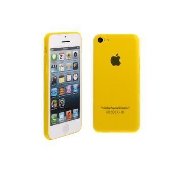 coque en silicone souple pour apple iphone 5c jaune. Black Bedroom Furniture Sets. Home Design Ideas