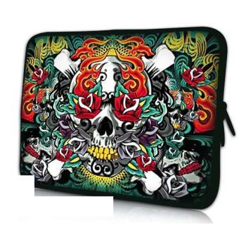 housse ordinateur portable 17 pouces skull flowers achat. Black Bedroom Furniture Sets. Home Design Ideas