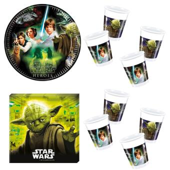 star wars kit vaisselle jetable anniversaire pour 8 enfants top prix fnac. Black Bedroom Furniture Sets. Home Design Ideas
