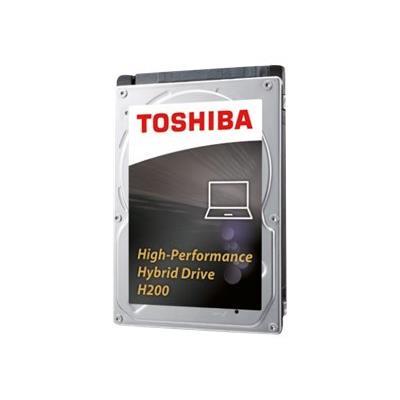 Le disque dur hybride SSD interne (SSHD) de 2,5 pouces H200 de Toshiba associe les capacités de stockage d´un disque dur avec les performances et la réactivité d´un disque SSD, vous permettant ainsi de bénéficier d´une grande capacité de stockage hautes p