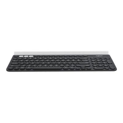 Le clavier K780 multidispositif est un clavier d´ordinateur tout équipé, doté d´un pavé numérique et à la finition supérieure qui fonctionne aussi parfaitement avec les smartphones et les tablettes. Profitez d´une saisie silencieuse et confortable sur un