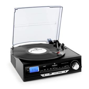 auna tt 18bb platine vinyle usb sd aux fm am noire achat prix fnac. Black Bedroom Furniture Sets. Home Design Ideas