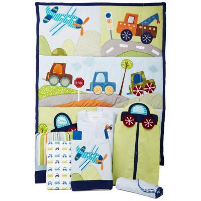 Ensemble de literie luxe Petit voyageurs pour enfants (pack de 5 pièces), 45 x 15.2 x 40 cm -PEGANE- pour 408€