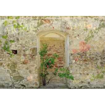 murs papier peint photo poster autocollant mur de jardin romantique 3 parties 250x360 cm. Black Bedroom Furniture Sets. Home Design Ideas