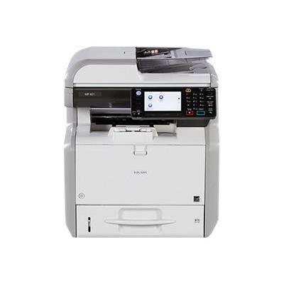 Partager l´information à votre façon avec des capacités de copie, d´impression, de numérisation et de télécopie. L´imprimante multifonctions noir et blanc compacte et abordable MP 401SPF de RICOH vous permet de créer des documents, d´y accéder, de les pro