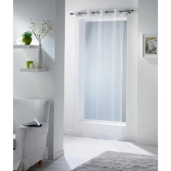 rideau fine resille 140x240 cm a oeillets m tal achat prix fnac. Black Bedroom Furniture Sets. Home Design Ideas