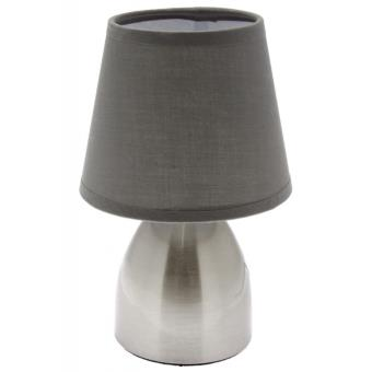 Lampe de chevet touch gris tactile 3 intensit s for Lampe de chevet tactile enfant