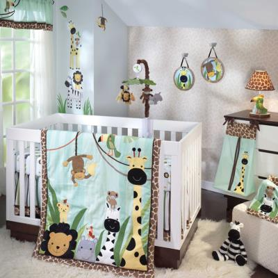 Ensemble de literie luxe Jungle pour enfants (Pack de 5 pièces), 48.3 x 48.3 x 15.2 cm -PEGANE- pour 368€