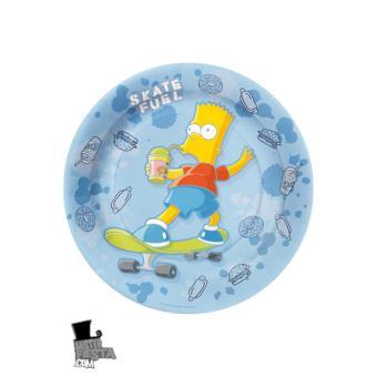 8 assiettes 23cm les simpson d coration anniversaire - Simpson anniversaire ...