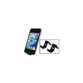 Duo de petit support m talique de bureau pour ipod for Petit bureau multimedia