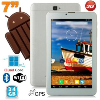 Cette tablette 7 pouces Android aborde un design très chic grâce à sa finition imitation cuir tressé. De petite taille (écran 7 pouces), elle est facilement utilisable et transportable. Dotée du système d´exploitation Android KitKat, elle offre une naviga