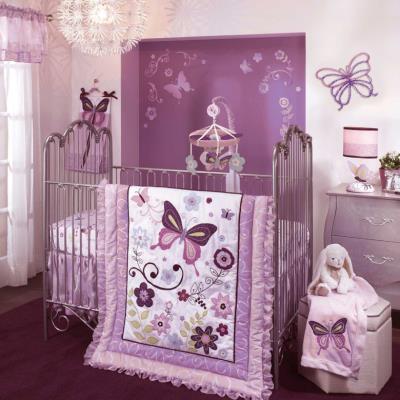 Ensemble de literie luxe papillon pour enfants (Pack de 5 pièces), 48.3 x 48.3 x 15.2 cm -PEGANE- pour 358€