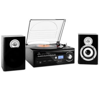 Auna tt 190 micro cha ne hifi stereo avec platine enregistrement mp3 cd usb k - Chaine hifi avec platine vinyl ...