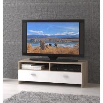 finlandek meuble tv helppo blanc et chene achat prix fnac. Black Bedroom Furniture Sets. Home Design Ideas