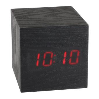 horloge r veil led design cube de bois achat prix fnac. Black Bedroom Furniture Sets. Home Design Ideas