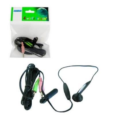 Numéro de la pièce dorigine 03386 Nom du produit 4World casque avec microphone Mini pour Skype Producteur 4World Classe de produit Casque Tapez informationHeadphones de base écouteurs Sans fil Non Microphone Oui Type de connecteur 2 x mini-jack 3,5 mm (ca