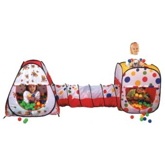 tentes de jeux pour enfants 2 tentes 1 tunnel 200 balles achat prix fnac. Black Bedroom Furniture Sets. Home Design Ideas