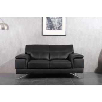 elypse canap droit 2 places cuir pvc noir achat prix fnac. Black Bedroom Furniture Sets. Home Design Ideas