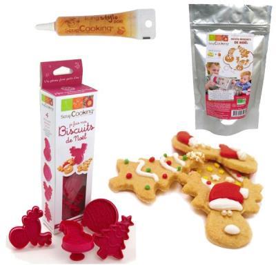 Image du produit Coffret de préparation pour biscuits de Noël