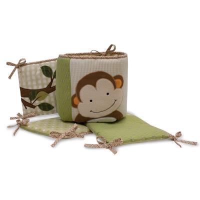 Provence tour de lit luxe motifs Papagayo pour enfants ( 4 pièces ), 30.5 x 30.5 x 20.3 cm -PEGANE- pour 190€
