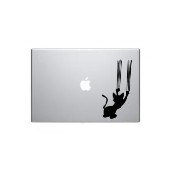 mp Stickers Macbook Chat Griffe Pro  pouces Noir w