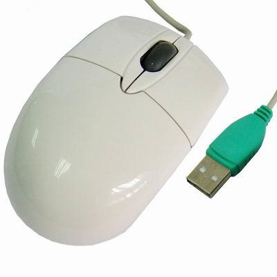 Souris Optique USB Filaire Blanc 800DPI