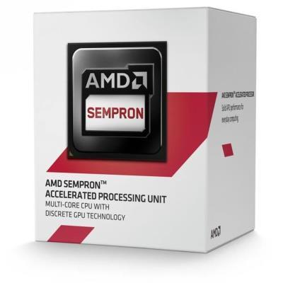 Sempron 2650 Dual-Core (1.45 GHz) with Radeon R3 Series, 1MB L2 Cache, Socket AM1, 25W Caractéristiques : - Famille de processeur : AMD Sempron - Vitesse du processeur : 1450 GHz - Nombre de coeurs de processeurs : 2 - Processeur bus système : 1333 MHz -