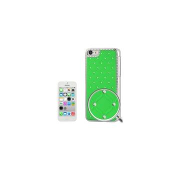 coque housse de protection en plastique vert effet diamant pour iphone 5c achat prix. Black Bedroom Furniture Sets. Home Design Ideas