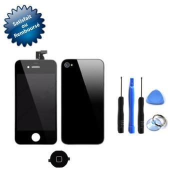 vitre tactile pour apple iphone 4s cran lcd sur ch ssis vitre arri re bouton home. Black Bedroom Furniture Sets. Home Design Ideas