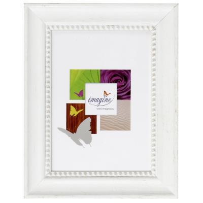 Romantisme et délicatesse pour ce cadre 20x30 cm / A4 en bois FSC Carmen blanc. En effet, avec son motif perlé il donne une touche raffinée et douce à votre photo et à votre intérieur.