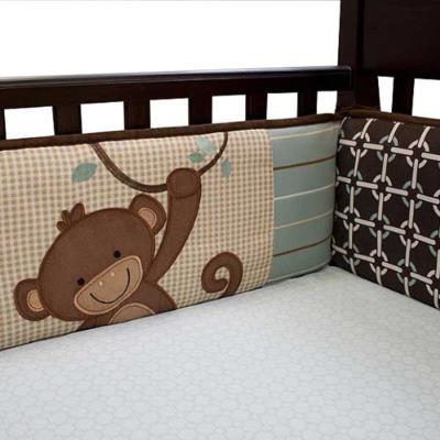 Pare-chocs tour de lit motifs jungle luxe pour enfants (4 pièces), 30.5 x 30.5 x 20.3 cm -PEGANE- pour 180€