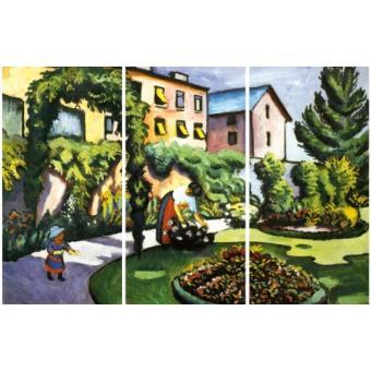 August macke poster reproduction sur toile tendue sur for Toile tendue jardin