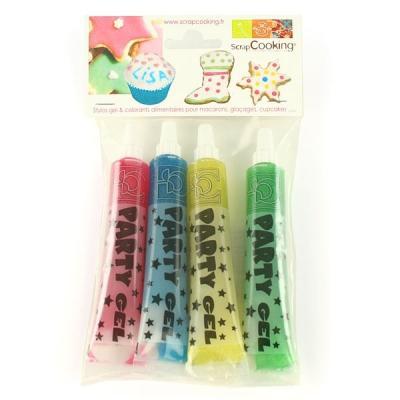 Image du produit Scrapcooking Ensemble 4 stylos gel pailleté