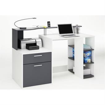 oracle bureau 140 cm blanc gris achat prix fnac. Black Bedroom Furniture Sets. Home Design Ideas