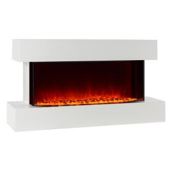Klarstein studio 2 chemin e lectrique simulation de flammes led 1000 2000w 40m blanc achat - Cheminee electrique a led ...