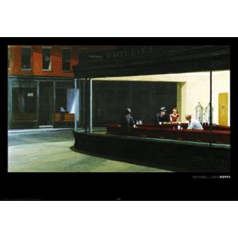Edward Hopper Poster Reproduction - Nighthawks (60xcm) - Fnac