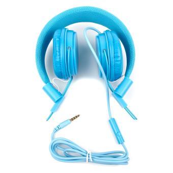 casque audio r glable en bleu pour enfant repliable et. Black Bedroom Furniture Sets. Home Design Ideas