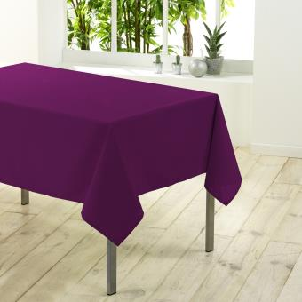 Nappe rectangulaire unie 140x200 CHARLY prune