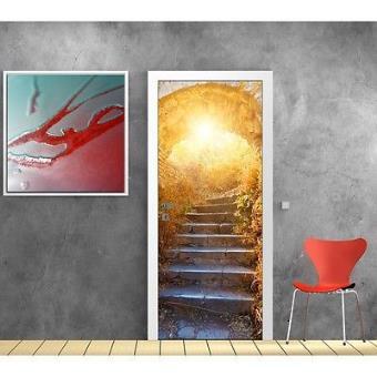 papier peint porte escalier soleil 789 dimensions 93x204cm top prix fnac. Black Bedroom Furniture Sets. Home Design Ideas