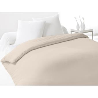 housse de couette coton 240x260 cm fleur de percale beige achat prix fnac. Black Bedroom Furniture Sets. Home Design Ideas
