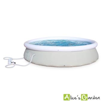 Piscine grenat gonflable grise autoportante 360cm achat for Cash piscine 71