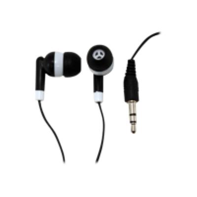 stereo earphones with mic - 1.20m black