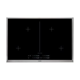 aeg hk854400xb table de cuisson induction 80 cm vitroc ramique avec garnitures en acier. Black Bedroom Furniture Sets. Home Design Ideas