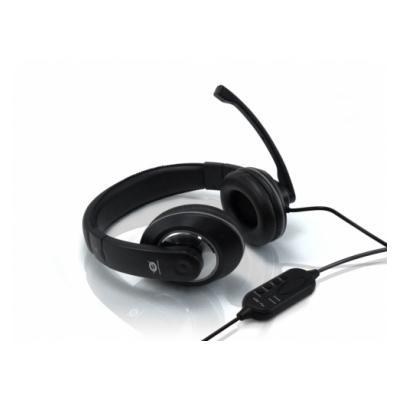 Conceptronic USB Professional Level Headset. La connectivité des périphériques: Avec fil, Interface de l´appareil: USB. Couplage auriculaire: Supraaural, Fréquence des écouteurs: 20 - 20000 Hz, Impédance: 32 Ohm. Largeur: 245 mm, Profondeur: 250 mm, Haute