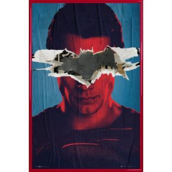 Vs Superman Superman Teaser (91x61 cm), Cadre Plastique, Rouge
